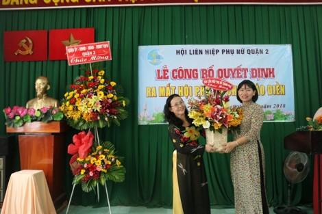 Ra mắt Hội Phụ nữ chợ Thảo Điền, quận 2