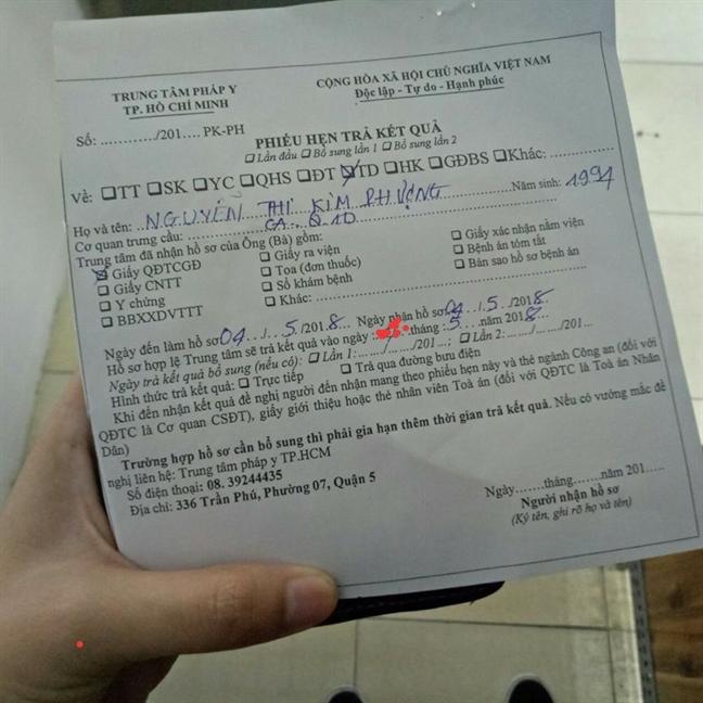 Vu nguoi mau nude to bi hiep dam: Nguyen don tiep nhan ket qua giam dinh phap y