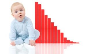 Nhà sản xuất lao đao vì tỉ lệ sinh giảm ở mức kỷ lục
