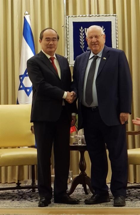 Bí thư Thành ủy TP.HCM hội kiến Tổng thống Israel Reuven Rivlin