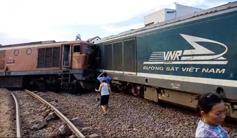 Hai tàu hỏa đâm nhau trực diện ở Quảng Nam