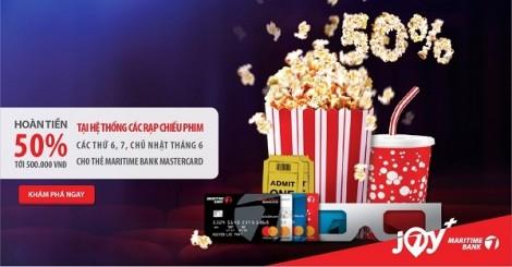 Thưởng thức những bộ phim hè đặc sắc với ưu đãi hoàn tiền 'khủng' từ Maritime Bank