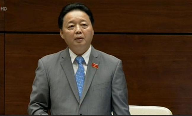 Bo truong Tran Hong Ha: O nhiem khong khi co nhung chua nghiem trong!