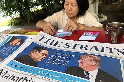 Singapore tat bat chuan bi truoc them Hoi nghi Thuong dinh My - Trieu