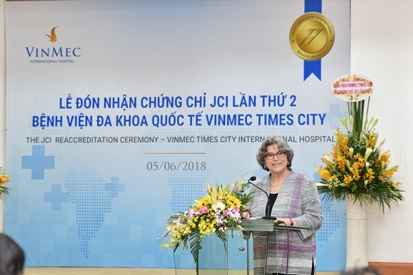 Vinmec Times City nhan chung chi chat luong quoc te JCI lan thu 2