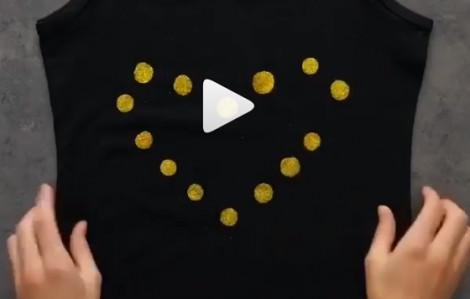 5 phút thêm họa tiết sinh động giúp túi xách, áo thun cũ thành mới