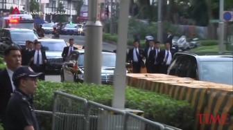 Hàng rào an ninh tuyệt đối bảo vệ nhà lãnh đạo Kim Jong Un tại Singapore