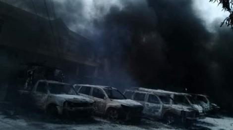 Cảnh hoang tàn trong trụ sở PCCC Phan Rí sau khi bị các đối tượng đốt phá