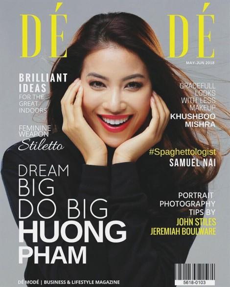 Phạm Hương xuất hiện trên bìa tạp chí của Pháp, chia sẻ con đường thành công của bản thân