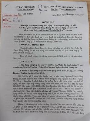 'Khong co canh tuong Trang An tan hoang nhu nhieu nguoi nghi'