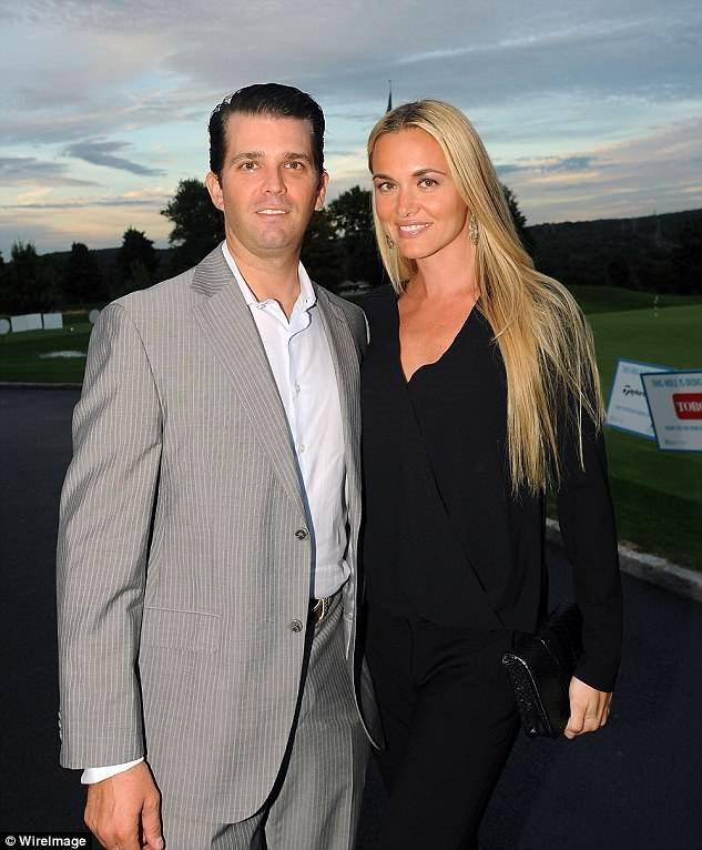 Con trai Donald Trump hen ho tinh moi sau ly hon, con gai lot top my nhan the gioi