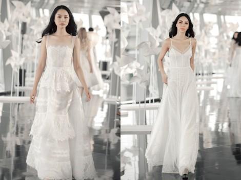 Váy cưới trắng tinh khôi cho nàng chuộng phong cách nhẹ nhàng, nữ tính