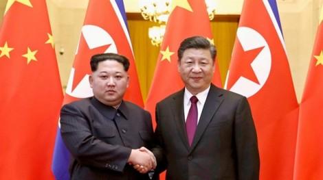 Lãnh đạo Triều Tiên Kim Jong Un gặp Chủ tịch Trung Quốc Tập Cận Bình
