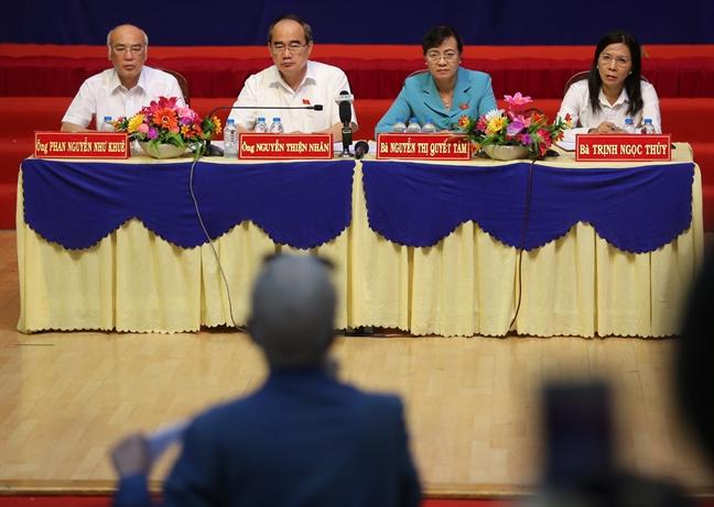 Bi thu Nguyen Thien Nhan: Neu nha o ngoai ranh gioi thi cac ho o Thu Thiem khong phai di doi