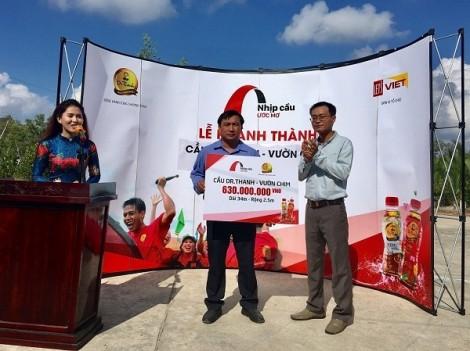 Tân Hiệp Phát tiếp tục khánh thành cầu Dr Thanh – Vườn Chim cho người dân Giá Rai (Bạc Liêu)