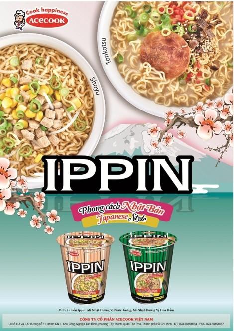 Acecook Việt Nam ra mắt sản phẩm mì ly Ippin và mì Siukay hương vị bò mới