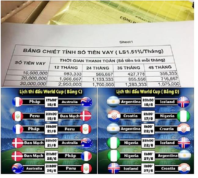 World Cup, mua lam an cua dich vu cho vay 'cat co'