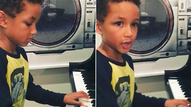 Con trai la soi day noi dai dam me am nhac cho Alicia Keys