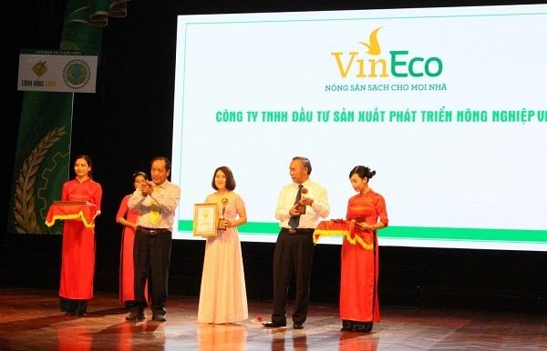 VinEco dat danh hieu Thuong hieu vang nong nghiep Viet Nam