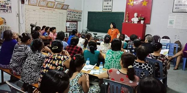 Q.Tan Binh: Tu ván nghè giúp viẹc nhà cho lao dọng nũ