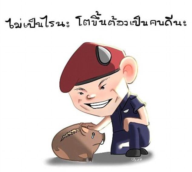 Vo oa cam xuc dem khong ngu cua nguoi Thai khi dua doi bong 'Lon Hoang' tro ve