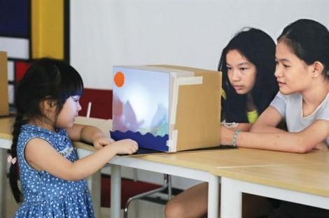 Cho trẻ học sáng tạo, làm kiến trúc sư tí hon ở đâu?