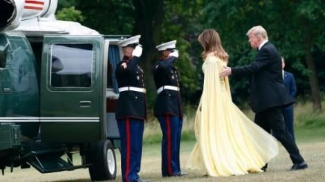 Chiếc đầm vàng gây tranh cãi của Đệ nhất phu nhân Mỹ khi công du Anh