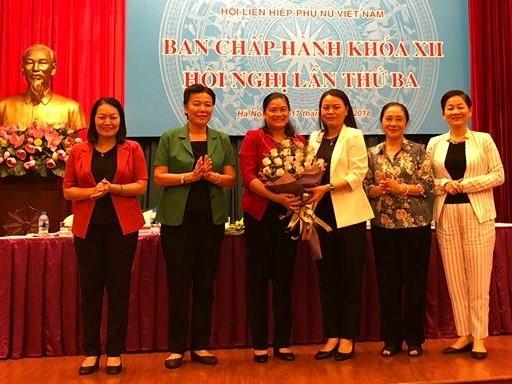 Ba Do Thi Thu Thao duoc bau lam Pho Chu tich Hoi LHPN Viet Nam