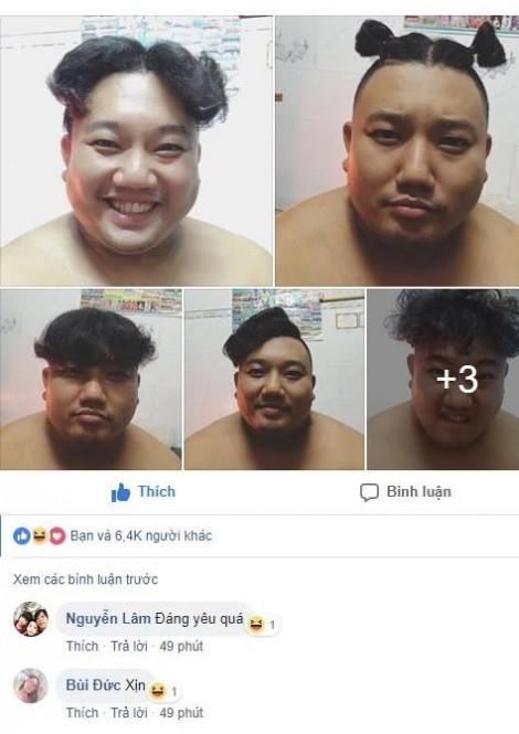 Chuyện tình lãng mạn, hài hước đằng sau loạt ảnh tạo kiểu tóc 'bá đạo' cho chồng béo