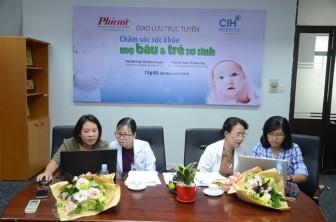 Giao lưu trực tuyến 'Chăm sóc sức khỏe mẹ bầu và trẻ sơ sinh'