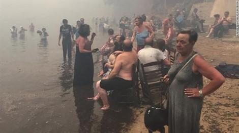 Cháy rừng ở Hy Lạp, cả ngôi làng bị xóa khỏi bản đồ