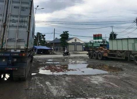 Xe container bị lái trộm từ TP.HCM về Bình Dương để tháo bánh