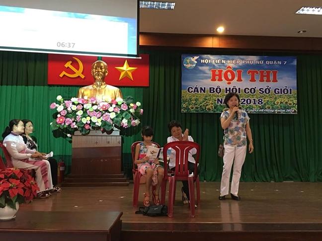 Quan 7: P. Phu Thuan doat giai Nhat hoi thi Can bo co so gioi