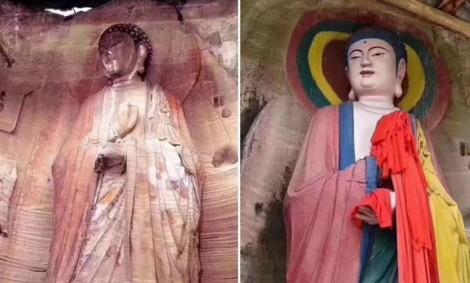 Thảm họa phục chế tượng Phật ngàn năm tuổi ở Trung Quốc