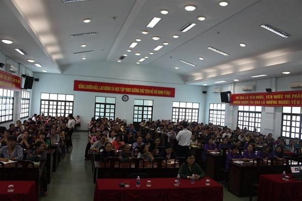 Huyen Cu Chi: Tap huan cong tac phu nu dan toc, ton giao