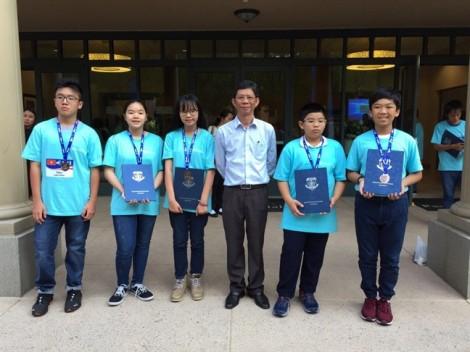 Học sinh TP.HCM giành 5 huy chương bạc và đồng cuộc thi toán học tại Mỹ
