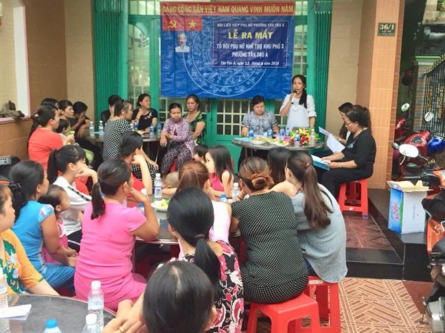 Quan Binh Tan: Ra mat To Hoi Phu nu cong nhan lao dong phuong Tan Tao A