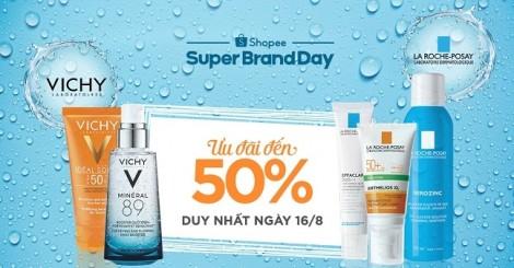L'Oreal dành tặng ưu đãi 50% cho khách hàng mua sản phẩm thuộc hai thương hiệu: La Roche-Posay và Vichy trên Shopee
