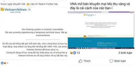 Mở bán vé ưu đãi 'mùa thu vàng', hệ thống Vietnam Airlines liên tục báo lỗi