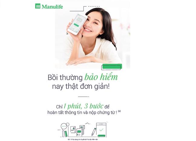 Dot pha tu Manulife Viet Nam: nop yeu cau boi thuong bao hiem trong vong 1 phut