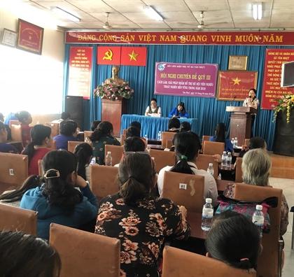 Huyen Binh Chanh: Ban giai phap giup cac ho hoi vien, phu nu thoat ngheo