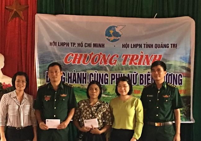 Hoi LHPN TP.HCM: Nhieu hoat dong ho tro phu nu va tre em ngheo tinh Quang Tri