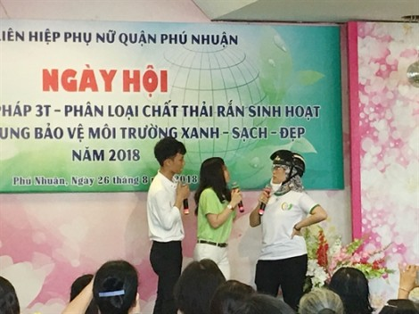 Phụ nữ quận Phú Nhuận chung tay bảo vệ môi trường