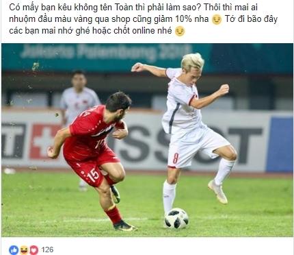 Olympic Viet Nam vao ban ket, khach hang ten Toan duoc 'cham soc dac biet'