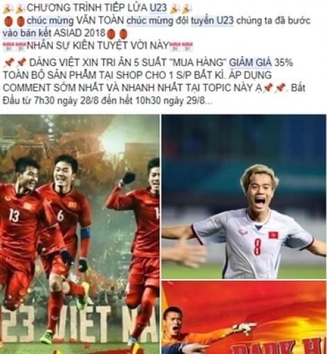 Olympic Việt Nam vào bán kết, khách hàng tên Toàn được 'chăm sóc đặc biệt'