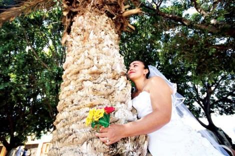 'Cưới' cây vì quá yêu môi trường