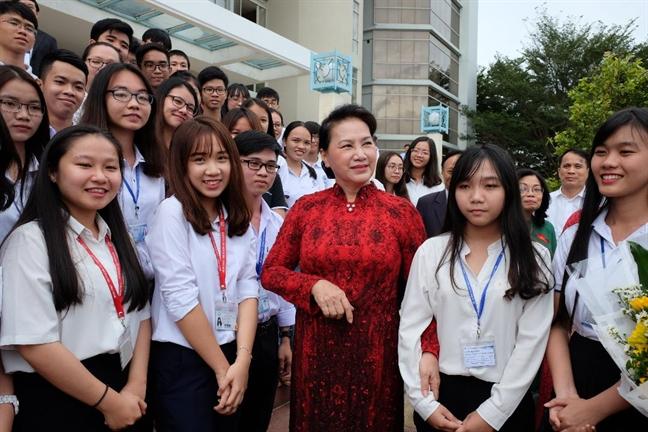 Chu tich Quoc hoi Nguyen Thi Kim Ngan: Tu chu dai hoc khong co nghia la tha noi hay buong long quan ly!