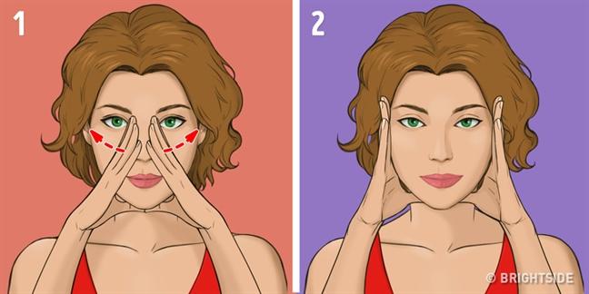 Massage 5 phut tre hoa da mat kieu Nhat