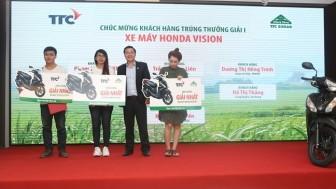 Mua đường Biên Hòa, nhiều khách hàng trúng thưởng xe máy Honda Vision
