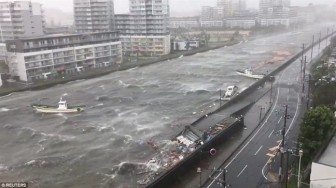 Nhật Bản dồn dập thiên tai lọt vào ảnh nổi bật nhất tuần